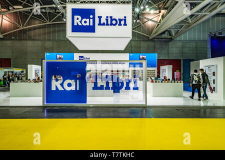 Turin, Italy. 09th May, 2019. Italy Piedmont Turin Lingotto fair -  International Book Fair in Turin Credit: Realy Easy Star/Alamy Live News - Stock Image