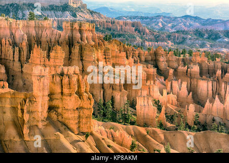 Sunset at Bryce Canyon National Park - Stock Image