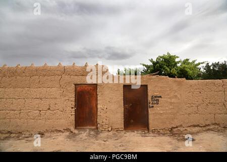 Doors of houses in Fahraj,  Iran - Stock Image