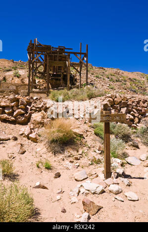 The Cashier Mill at the Eureka Mine, Death Valley National Park, California, USA - Stock Image
