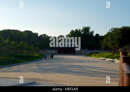 Palace in Seoul, South Korea in summer - Stock Image