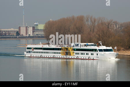 Rhine cruise liner De Zonnebloem (The Sunflower) Cologne, Germany. - Stock Image
