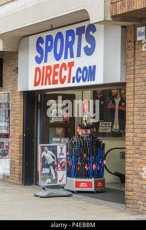 Front of Sports Direct shop in Truro, Cornwall. - Stock Image