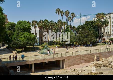 Alcazabilla Street. Málaga city, Andalusia, Spain. - Stock Image