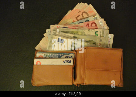 The wallet - Stock Image