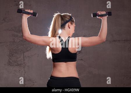 Beautiful fitness woman - Stock Image