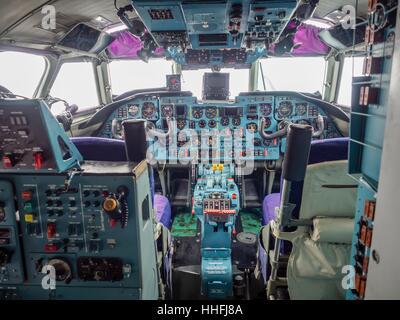 Croatian Air Force HRZ Croatia transport aircraft Antonov An-32B An32B cockpit - Stock Image