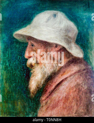 Pierre Auguste Renoir (1841-1919), self portrait, white hat, 1910 - Stock Image