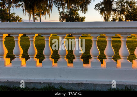 Sunlight on wall at Capernaum Lakeside Lodge also Capernaum Inn Retreat Center  built in 1925 in Lake Wales Polk County Floridda in the United States - Stock Image