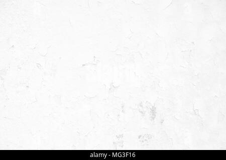 White Peeling Paint Concrete Wall Texture Background Suitable for Presentation and Web Templates with Space for Text. - Stock Image