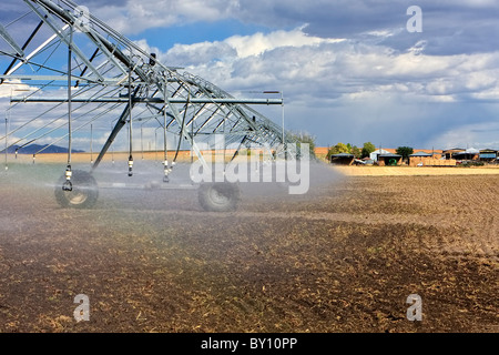 Agriculture watering/sprinklers - Stock Image