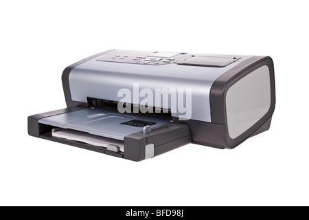 Inkjet printer isolated on a white background - Stock Image