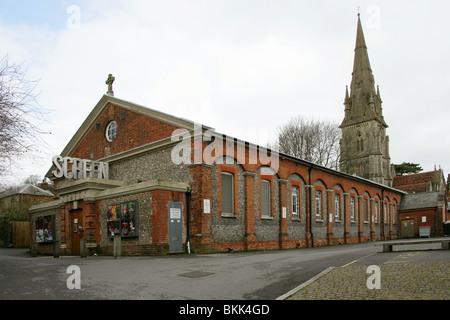 Screen Cinema, Winchester, Hampshire, UK. Previously the Church Hall. - Stock Image