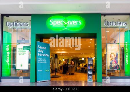 Specsavers opticians, UK. - Stock Image