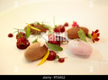 Restaurant, Belgium - Stock Image