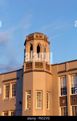 Gothic Collegiate style Point Grey Secondary school building in Kerrisdale, Vancouver, BC, Canada - Stock Image