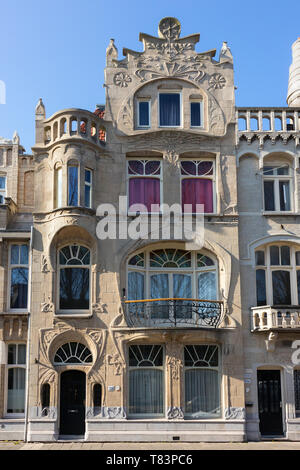 The Hague, Holland- April 01, 2019:  French-Belgium Art Nouveau style building at the Laan van Meerdervoort built in 1900 - Stock Image