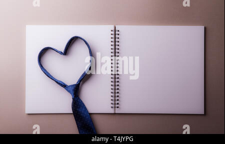 A fathers day greeting card concept. Flat lay. Copy space. - Stock Image
