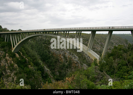 Bloukrans River Bridge, Tsitsikamma, Nature's Valley, Western Cape, South Africa. - Stock Image