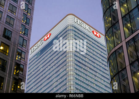 HSBC Bank building in Docklands, London, UK. - Stock Image