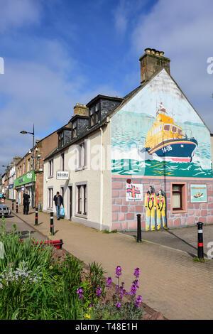Invergordon High Street, Invergordon, Highland, Scotland, United Kingdom - Stock Image