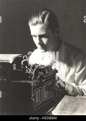 Writer at work - Stock Image