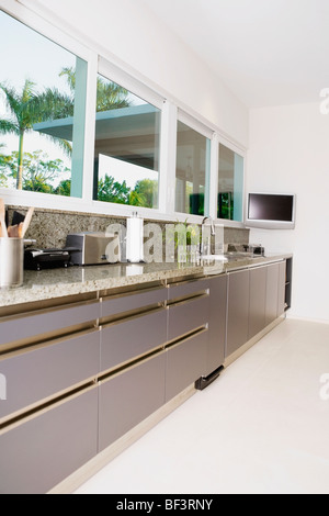 Interiors of a kitchen - Stock Image