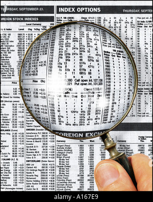 Financial research stockmarket - Stock Image