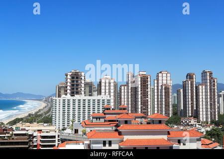 Barra da Tijuca neighborhood. Luxury condominiums with leisure infrastructure. Rio de Janeiro . Brazil - Stock Image