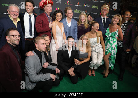 Sydney, Australia. 12th July 2019. Jack and the Beanstalk Giant 3D musical spectacular red carpet at the State Theatre. Pictured: cast and crew from the production. Credit: Richard Milnes/Alamy Live News - Stock Image