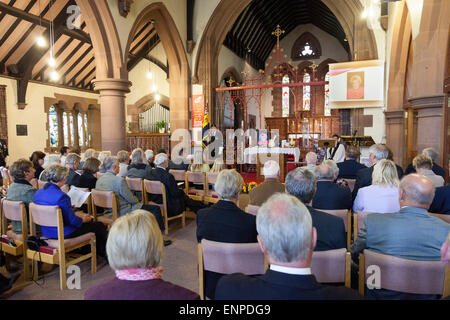Holy Trinity Church, Chesterton, UK. 8 May 2015. The Memorial Service for the life of Singer/Songwriter Jackie Trent. - Stock Image
