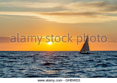geography / travel, Tanzania, Zanzibar, Stone Town, Zanzibar has plenty of dhows (traditional style sailing boat) - Stock Image