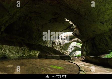 Devetashka cave, near Lovech, Bulgaria. Devetashka is one of the largest karst cave in Eastern Europe - Stock Image