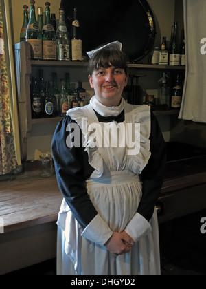 Stately Home Kitchen Maid Servant Dunham Massey  NT Cheshire England UK - Stock Image