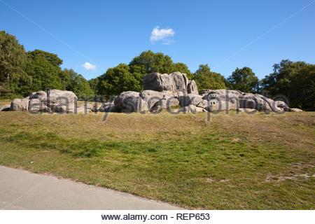 Wellington Rocks in Tunbridge Wells, Kent, England, UK - Stock Image