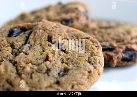 Close-up of chocolate chip cookies - Stock Image