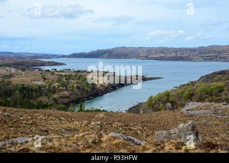 Upper Loch Torridon, Applecross Peninsula, Wester Ross, Highland Region, Scotland - Stock Image