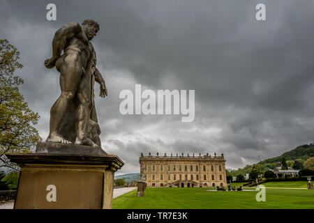 Chatsworth House in Derbyshire - Stock Image