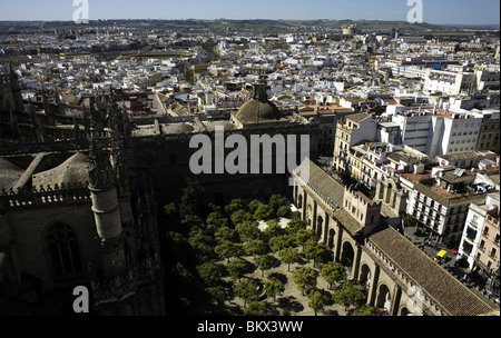 A view of Sevilla seen from the Cathedral's bell tower, Spain, March 11, 2008. Photo/Chico Sanchez - Stock Image