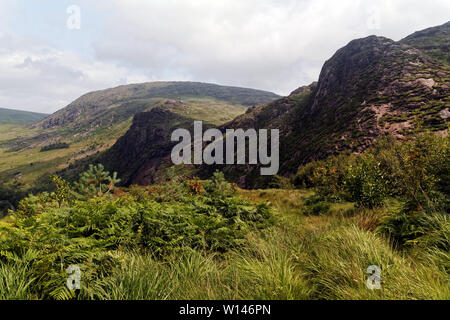Landscape of Kerry Mountains in Gleninchaquin Park,County Kerry,Ireland. - Stock Image