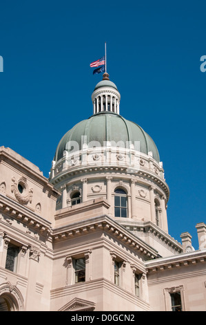 USA, Indiana, Indianapolis State Capitol building dome - Stock Image