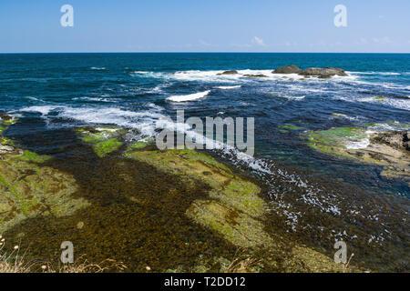 Beautiful seascape of the Black Sea coast near Tsarevo, Bulgaria. Arapya bay. - Stock Image