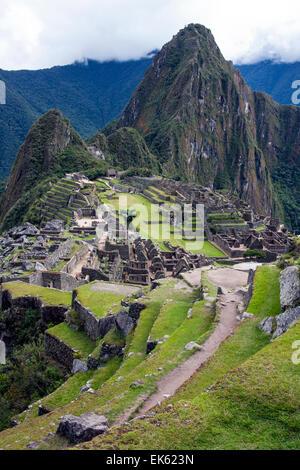 The Inca citadel of Machu Picchu in Peru, South America. - Stock Image