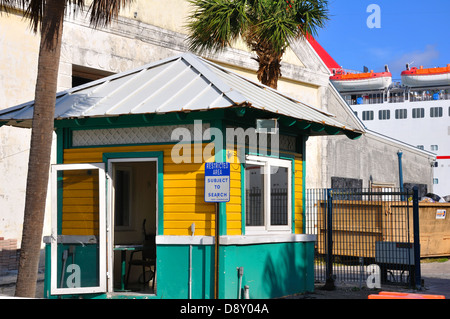 Customs checkpoint at port entry, Nassau, Bahamas - Stock Image