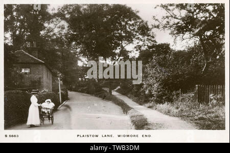 Plaistow Lane, Widmore End nr. Bromley, South East London.     Date: 1911 - Stock Image