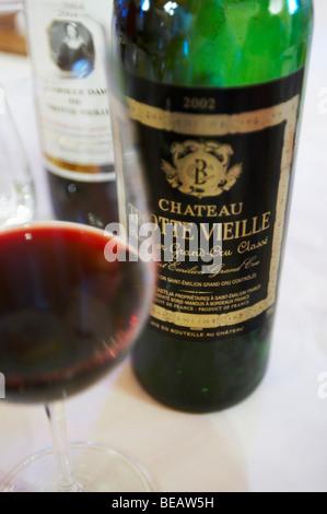 2002 in a glass chateau trottevieille saint emilion bordeaux france - Stock Image