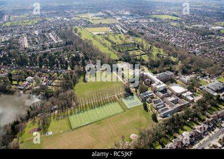 North London Collegiate School, surrounding park and gardens, Canons Park, Harrow, London, 2018. - Stock Image