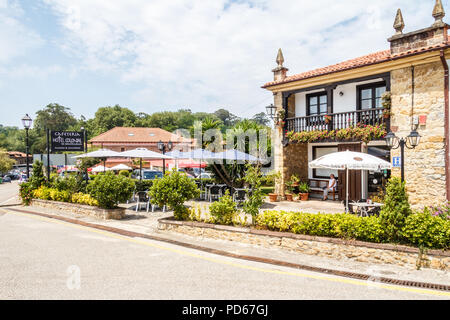 Santillana, Spain - 8th July 2018: View of the Hotel Colonial de Santillana. This is one of several hotels in the town. - Stock Image