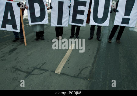 demonstration,goodbye,adieu - Stock Image