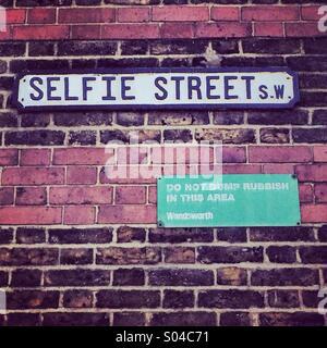 Selfie street - Stock Image